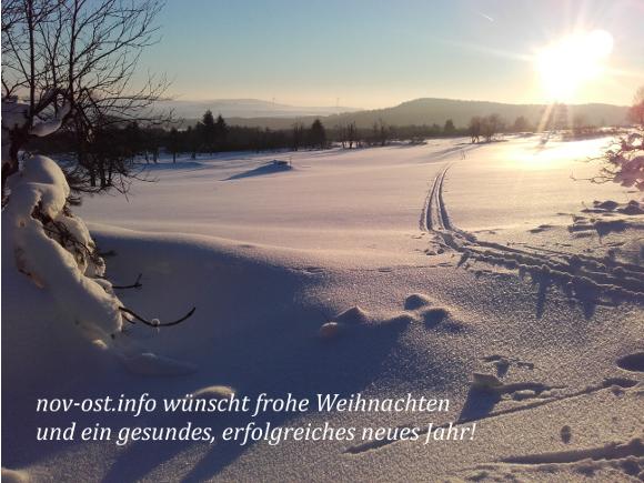 nov-ost.info wünscht frohe Weihnachten und ein gesundes neues Jahr!